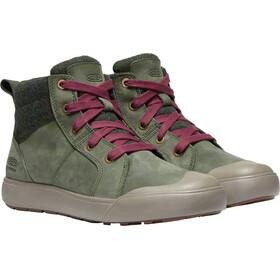 Keen Elena Mid-Cut Schuhe Damen climbing ivy/plaid